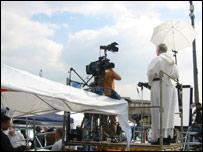 Media interview in Rome