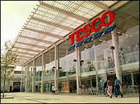 A Tesco supermarket in London