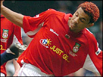 Wrexham wing-back Carlos Edwards
