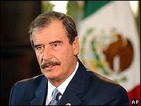 El presidente mexicano, Vicente Fox Quesada