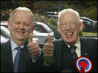 Jimmy Spratt and Ian Paisley of the DUP