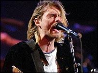 Nirvana singer Kurt Cobain