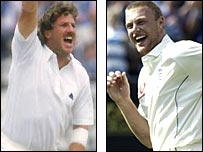 Ian Botham and Andrew Flintoff