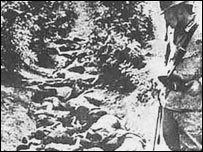 Bodies of Chinese laid in ditch