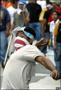 Protestantes en Guatemala.