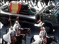 Funeral de Franco en Madrid.