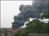 Scrap yard fire (courtesy of Derek Bacon)
