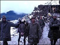 Soldados indios en Sikkim