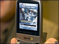 ABC news clip on a mobile phone