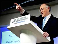 Michael Howard launches the Conservative manifesto