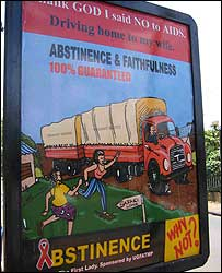 Aids information poster in Uganda