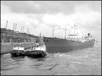 Ship at Liverpool docks (archive picture)
