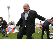 Sepp Blatter, presidente de la FIFA.