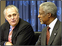 UN Secretary General, Kofi Annan, and Chief of Staff, Mark Malloch Brown