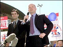 William Hague on the campaign trail