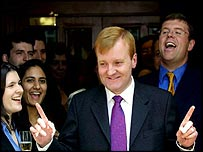 Charles Kennedy is welcomed back to Lib Dem headquarters
