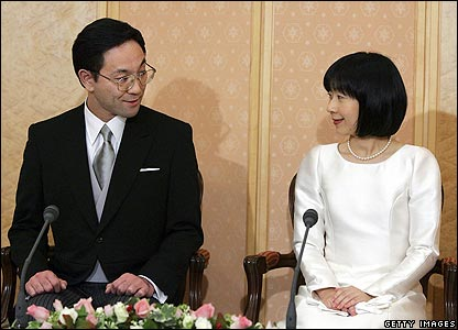 Yoshiki and Sayako Kuroda after their wedding