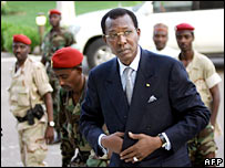 Chad's President Idriss Deby in the Chadian capital, N'Djamena, in June 2004