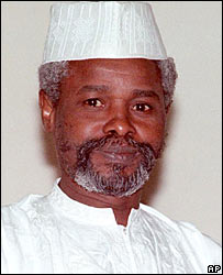 Chad's former President Hissene Habre (file photo, 1990)