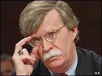 John Bolton appearing before the Senate confirmation hearing 11/04/05