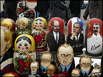 Russian dolls in shop