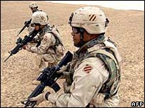 US troops in Iraq. File photo