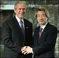President Bush (left) and Japanese Prime Minister Junichiro Koizumi