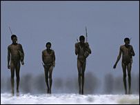 Khoisan hunter-gatherers     Image: Chris Johns/National Geographic