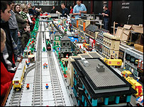 Lego model railway at museum in Swindon
