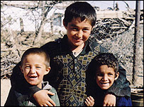 Three Turkmen boys
