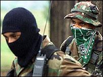 Paramilitares colombianos.