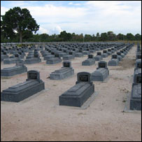 Graves of Tamils who died fighting the Sri Lankan forces