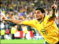 John Aloisi celebrates scoring the decisive penalty