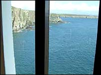 South Stack from the Coastguard office's window