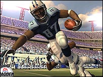 Screen grab from Madden NFL 2005