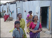 Nagapattinam tsunami survivors and their temporary shelters