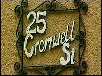 25 Cromwell Street - house sign