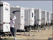 Temporary trailers in Louisiana