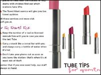 Tube safety leaflet
