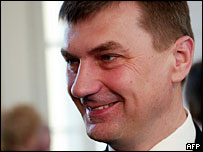New Estonian Prime Minister Andrus Ansip