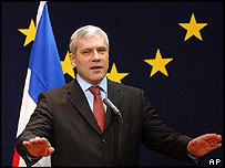 Serbia's President Boris Tadic in Brussels, March 2005