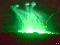 White phosphorous being used over Falluja