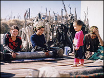 Women with a child in Turkmenistan