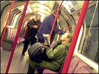 Passengers on the Tube