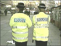 Female police officers on the beat