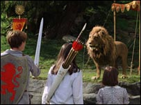 A scene from The Chronicles of Narnia: The Lion, the Witch and the Wardrobe
