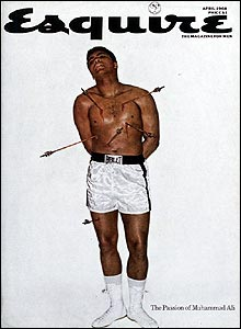 This photo for Esquire was taken in 1968, at a time when Ali was banned from boxing for refusing to fight in Vietnam.