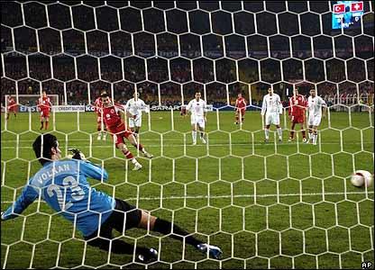 Alex Frei scores against Turkey