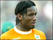 The Ivory Coast striker Didier Drogba