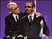 The Eurythmics on stage at Alexandra Palace